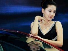 2019年广州车展上模特图片 车模高清晰图