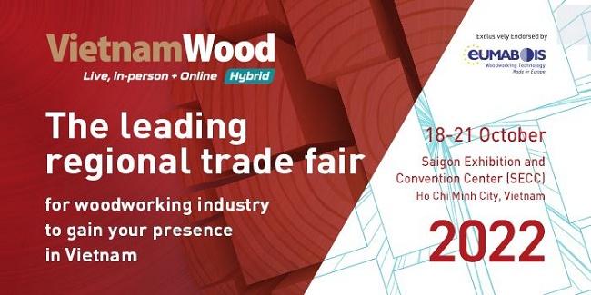 2022越南胡志明木工机械及家具展览会定于明年10月举行(www.828i.com)