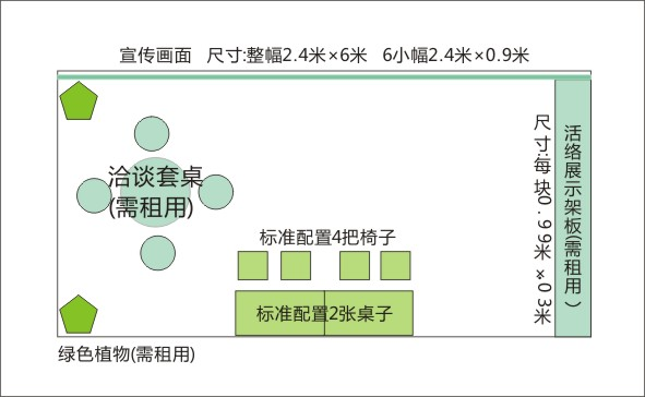 如何布置两个标准展位 18方标展示意图(www.828i.com)