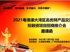 2021粤港澳大湾区名优特产